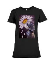Weimaraner Flower Poster Premium Fit Ladies Tee thumbnail