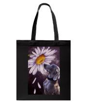 Weimaraner Flower Poster Tote Bag thumbnail