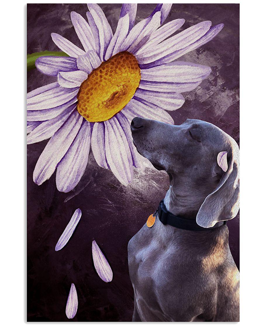 Weimaraner Flower Poster 16x24 Poster