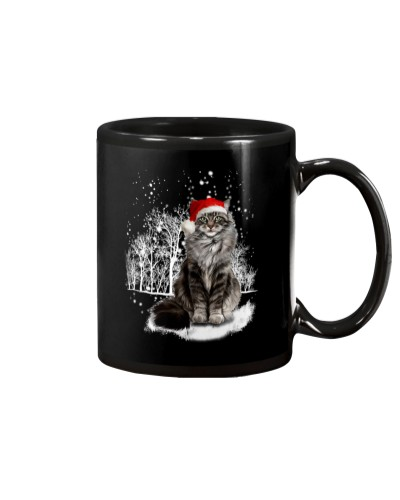Cat Snow Falling
