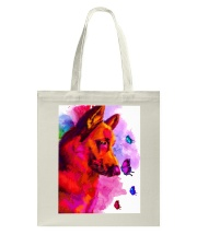German Shepherd Buterfly Water Color Tote Bag thumbnail