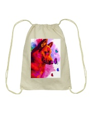 German Shepherd Buterfly Water Color Drawstring Bag thumbnail