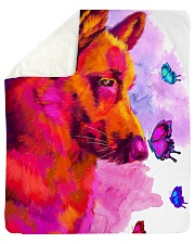 "German Shepherd Buterfly Water Color Sherpa Fleece Blanket - 50"" x 60"" thumbnail"