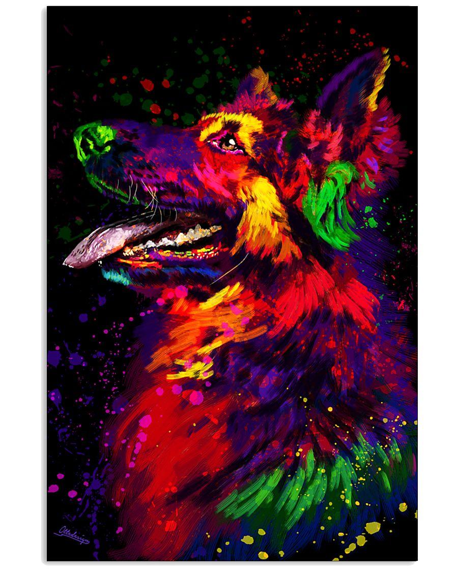 German Shepherd Water Color Art D30 11x17 Poster