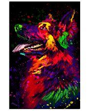 German Shepherd Water Color Art D30 11x17 Poster front