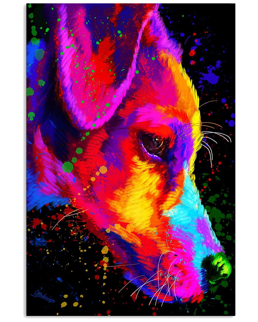 Jack Russell Water Color Art Half Face  11x17 Poster