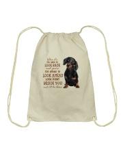 dachshund Beside you Drawstring Bag thumbnail