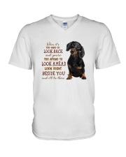 dachshund Beside you V-Neck T-Shirt thumbnail