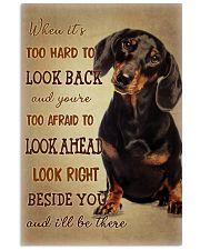 dachshund Beside you 11x17 Poster thumbnail