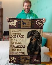"dachshund Beside you Small Fleece Blanket - 30"" x 40"" aos-coral-fleece-blanket-30x40-lifestyle-front-09"