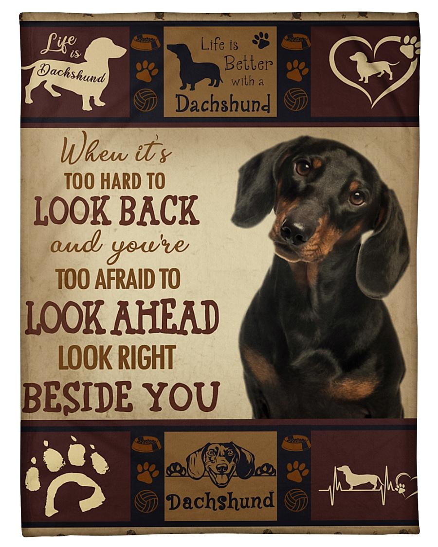 """dachshund Beside you Small Fleece Blanket - 30"""" x 40"""""""