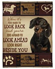 "dachshund Beside you Small Fleece Blanket - 30"" x 40"" front"