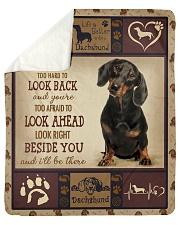 "dachshund Beside you Sherpa Fleece Blanket - 50"" x 60"" thumbnail"