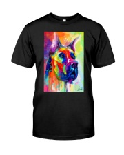 Great Dane Water Color Art Flow Q10 Classic T-Shirt thumbnail