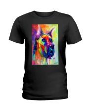 Great Dane Water Color Art Flow Q10 Ladies T-Shirt thumbnail