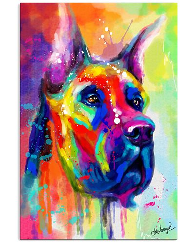 Great Dane Water Color Art Flow Q10
