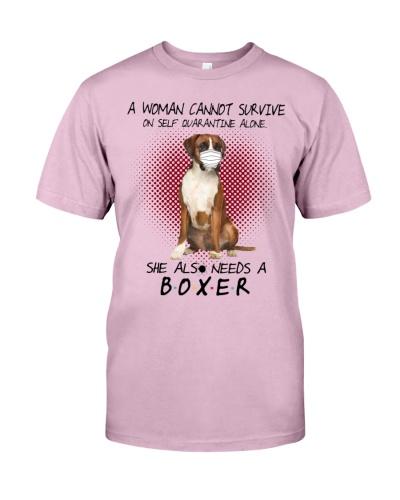 Boxer A women also needs a dog