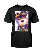 SCHNAUZER POSTER COLORFUL  Classic T-Shirt thumbnail