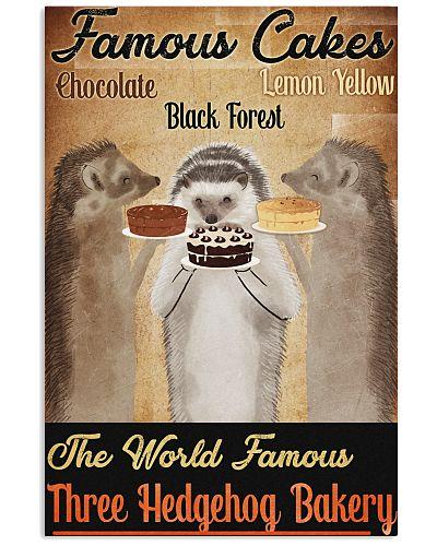 Hedgehog Cake Poster Vintage