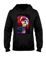 Shih Tzu Water Color Hooded Sweatshirt thumbnail
