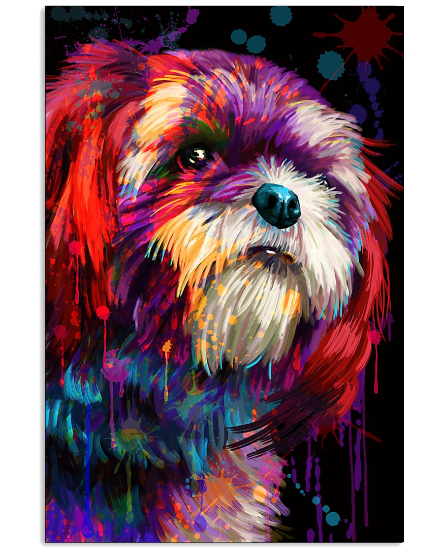 Shih Tzu Water Color 16x24 Poster