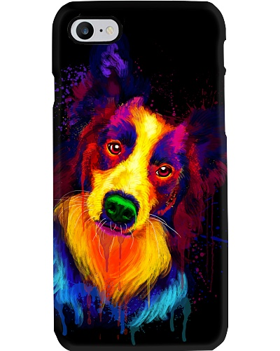 Border Collie Water Color Phone Case