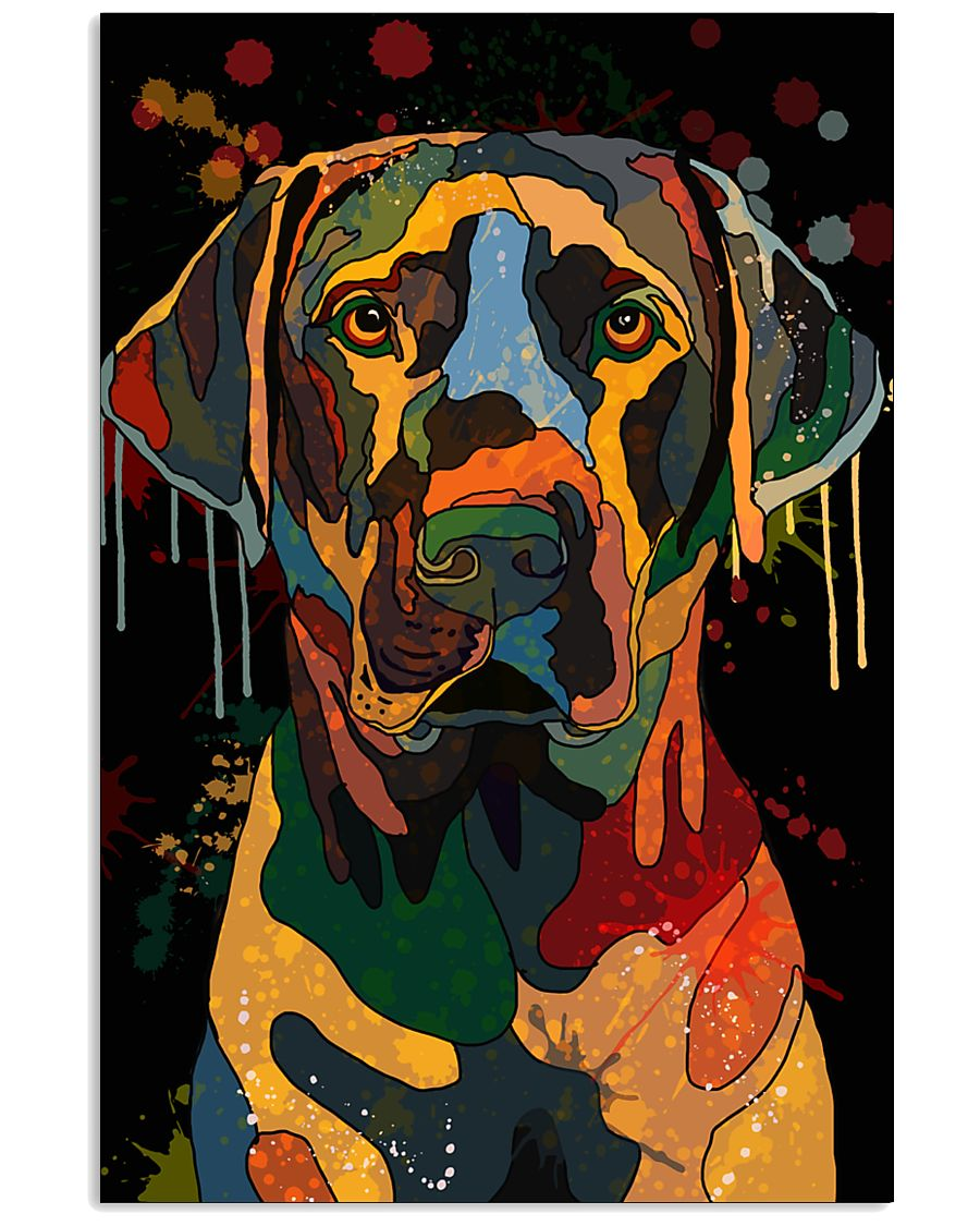 Labrador Water Color Art Flow Unique One ZX101 11x17 Poster