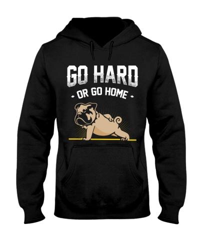 BullDog Hoodie Go Hard