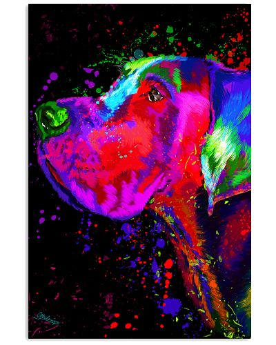 Great Dane Water Color Art Splash E10