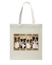 Border Collie Be Strong Tote Bag thumbnail