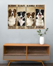 Border Collie Be Strong 36x24 Poster poster-landscape-36x24-lifestyle-21