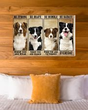 Border Collie Be Strong 36x24 Poster poster-landscape-36x24-lifestyle-23
