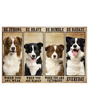 Border Collie Be Strong Horizontal Poster tile