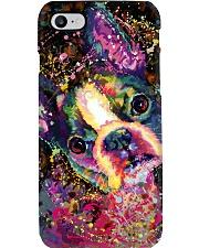 Boston Terrier Poster Splash Phone Case thumbnail