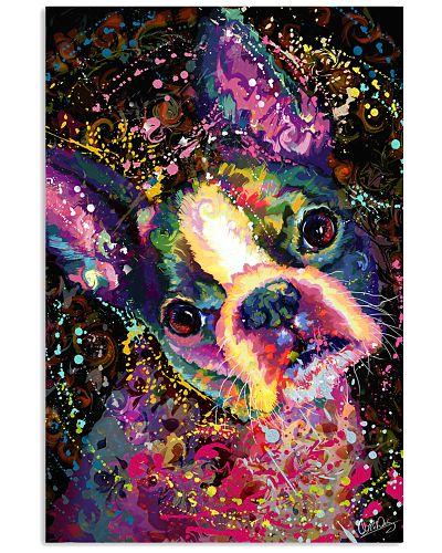 Boston Terrier Poster Splash