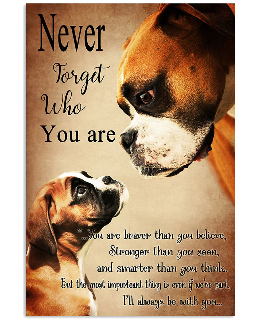 Never Forger Who You Are Boxer Dog 11x17 Poster
