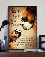 Never Forger Who You Are Boxer Dog 11x17 Poster lifestyle-poster-2