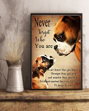 Never Forger Who You Are Boxer Dog 11x17 Poster lifestyle-poster-3