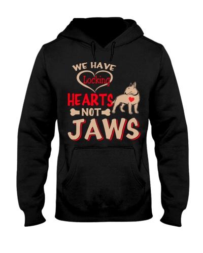 Bull Terrier Hoodie Locking Heart