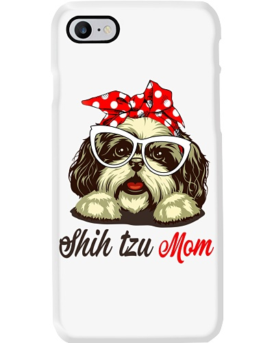 FUNNY SHIH TZU MOM GRAY SHIRT