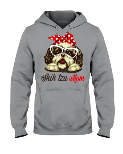 FUNNY SHIH TZU MOM GRAY SHIRT