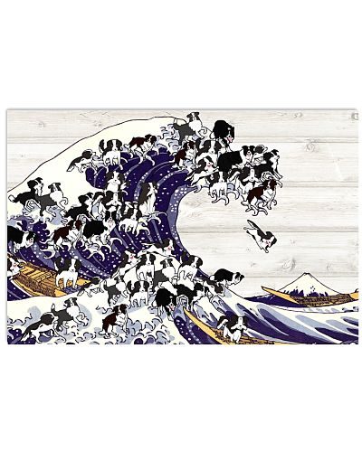 Border collie great wave