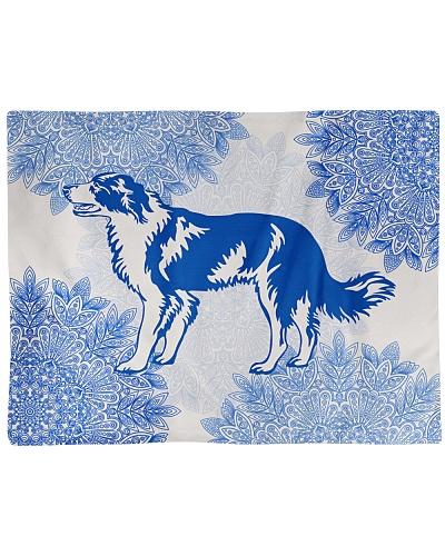 Border Collie Blue Floral