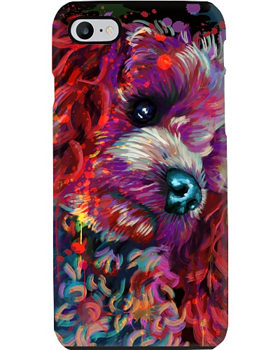 Poodle Water Color Phone Case