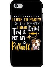 I LOVE TO PARTY PITBULL  Phone Case thumbnail