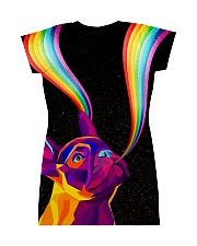 Frenchie rainbow All-over Dress back