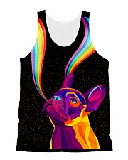 Frenchie rainbow All-over Unisex Tank thumbnail