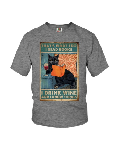 Cat I Read Books I Drink Wine