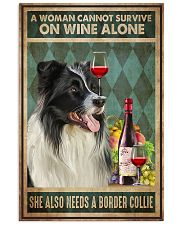 Border Collie Wine 24x36 Poster front