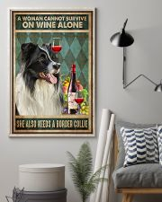 Border Collie Wine 24x36 Poster lifestyle-poster-1